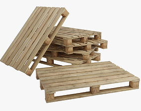 Wooden pallet low poly 3D asset