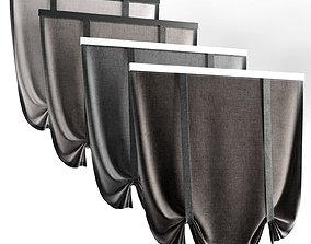 3D model Roman curtain 02