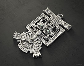 Aztec pendant HQ version 3D print model