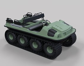 3D model other Argo 750 HD 8x8 with tracks