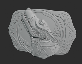 3D print model Steampunk Belt Buckle