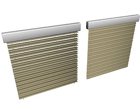 VR / AR ready Window blind model open and close