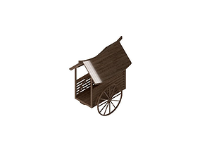 3D printable model Malaysian Cow Cart