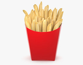 French Fries fastfood 3D