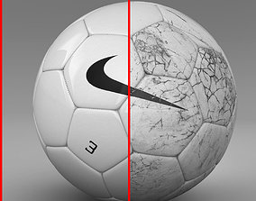 Soccer ball white 2 3D model