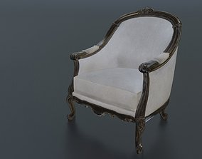 Chair 3D model game-ready sit