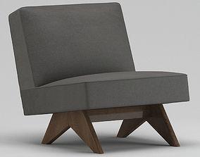 3D Pierre Jeanneret Lounge Chair