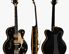 Gretsch Black Falcon 3D asset