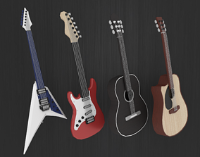 3D asset Guitar Collection