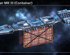 3D asset Spaceship Freighter MK III