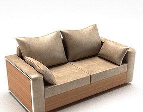Modern Leather Sofa 3D model