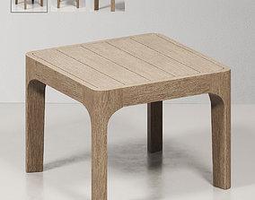 3D model MALTA TEAK SIDE TABLE