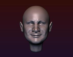 Man Head 4 - bald head 3D printable model