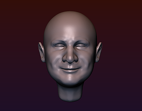 Man Head 4 - bald head 3D printable model