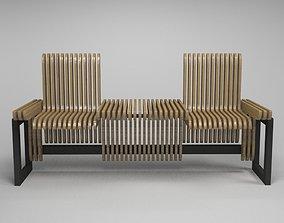 design bench transformer 3D asset
