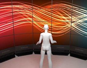 Videowall 3d model