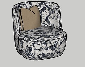 3D model La Pipe Lounge Chair by Friends and Founders