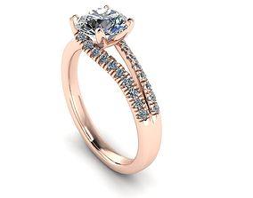 Unique Diamond Engagement Ring 167 3D print model