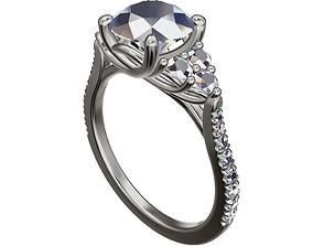 3D printable model beautiful ring platinum