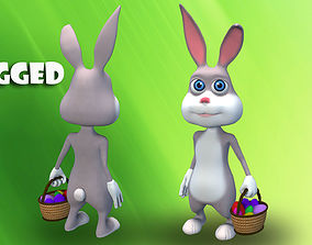 cartoon easter bunny 3D model