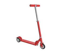 3D Kick scooter red