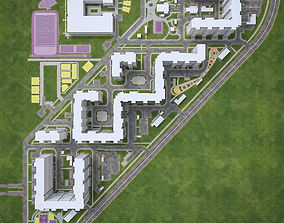 3D model Urban Area 04