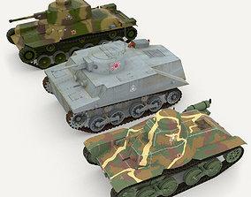 3D asset Japanes tanks collection