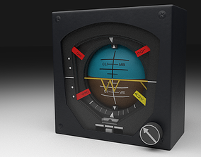 F16 Attitude Direction Indicator 3D