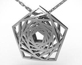 Pentagon mirror pendant 3D printable model