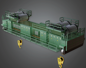 Industrial Construction Crane - GEN - PBR Game 3D model