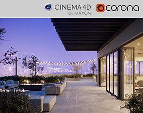 Corona - C4D scene files - Roof Terrace 3D model
