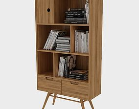 3D asset Standard Bookcase