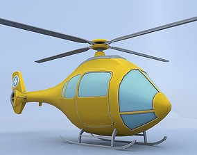Cartoon Helicopter 3D model rigged