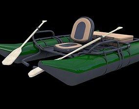 River Fishing Pontoon 3D model