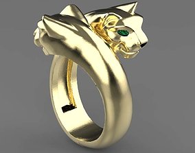 panther ring female 3D printable model