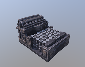 Typewriter Coaster Holder 3D