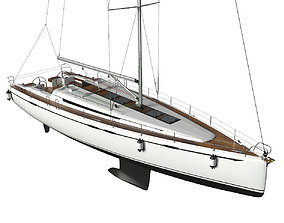 Sailing Yacht port 3D model