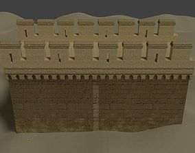 3D model Medieval wall