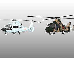 Z-9 Z9 helicopter Harbin ASW Shipboard Navy 3D model