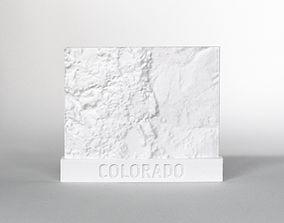 3D print model 047d - Magnet - Colorado Topography -