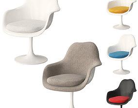 3D Knoll Tulip Chair Armless