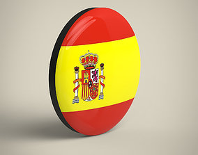 3D asset Spain Badge