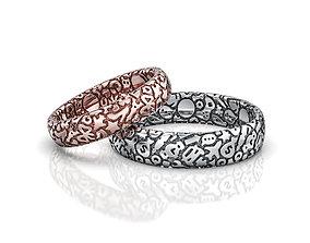 3D print model Wedding Rings Characters V1