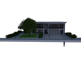 MOdern House Exterior 3D printable model