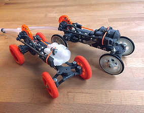 Pneumatic Remotely Controlled Toy Car 3D print model