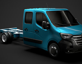 3D model Renault Master CrewCab DW E30 Chassis 2020