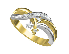 Jewelry Ring 3D printable model metallic
