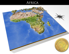 Africa High resolution 3D relief maps
