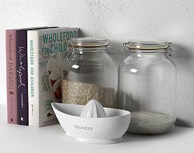 3D Books Jars and Plain Juicer