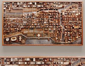 3D model Wood mosaic 10